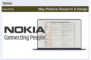 With Nokia I was researching and designing for various applications and platforms across their range of devices.